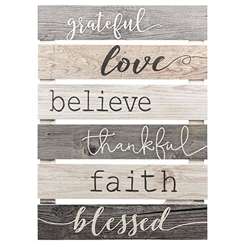 Buy P Graham Dunn Grateful Love Believe Thankful Faith Blessed Grey 17 X 24 Inch Solid Pine Wood Skid Wall Plaque Sign Online In Bahrain B06vsg3gfj