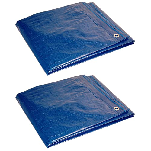 Pack of 2 Foremost Dry Top 50066 6 ft x 6 ft Black Drawstring 7 Mil Poly Tarp