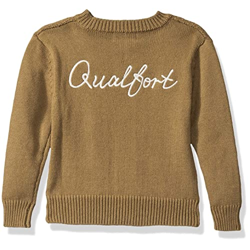 QUALFORT Toddler Boy Cardigan Button Up Cardigan Sweater Casual Outerwear