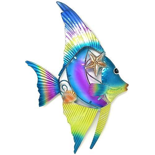 Buy Bejeweled Display Fish Wglass Wall Art Plaque Home Decor Online In Bahrain B00ohbdhj4