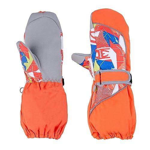 TRIWONDER Waterproof Kids Ski Mittens for 3-12 Years Old Kids Winter Gloves Ski Snowboard Gloves Outdoor Sports Snow Gloves Mittens