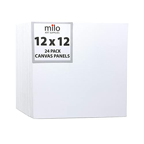 12x16 Inch Set of 24 8x10 Painting Canvas Panel Multi-Pack 100/% Cotton Blank Art Canvases for Acrylic /& Oil Painting 12x12 6x6
