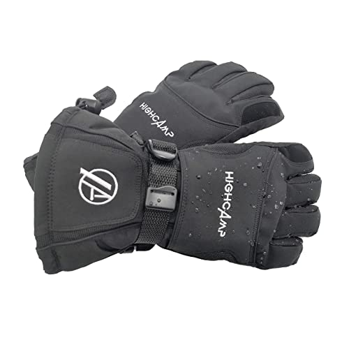 HIGHCAMP Men Snow Mittens Winter Waterproof Warm Breathable Waterproof Ski Snow Snowboarder Gloves
