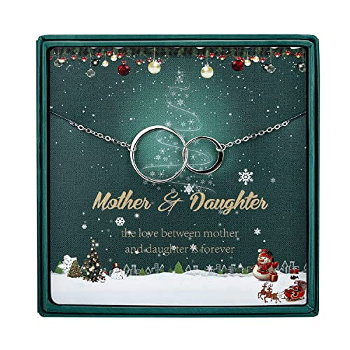 MUSIBEAUTY Mother and Daughter Necklace Daughter Gift Infinity Necklace Mom Gift Jewelry for Mom