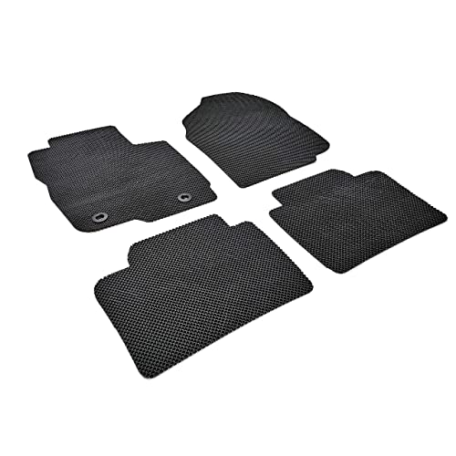 Autotech Zone Custom Fit Heavy Duty Custom Fit Car Floor Mat for 2009-2017 Audi Q5 SUV Beige and Brown All Weather Protector 4 Piece Set