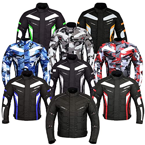 Camouflage Red, X-Small 6 Packs Design Most Popular JKT-007 Waterproof Motorbike Motorcycle Jacket in Cordura Fabric and CE Approved Armour