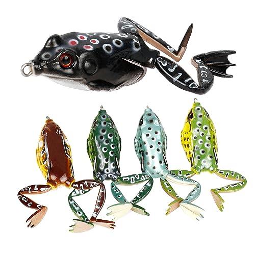Frosch Topwater Soft Fishing lockt K/öder Bass Crankbaits Doppelpropeller Frosch Soft Bait Radom Farbe