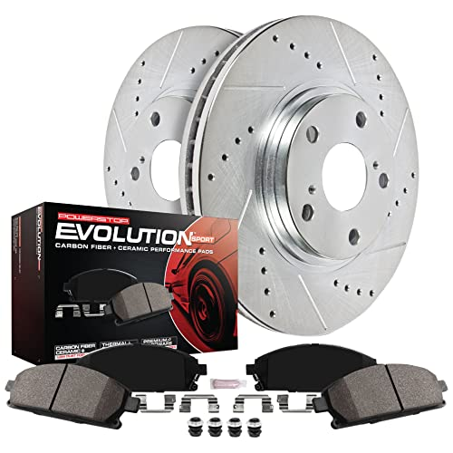 Note: 2.0L Stirling 2014 For Mazda 3 Front Cross Drilled Slotted and Anti Rust Coated Disc Brake Rotors and Ceramic Brake Pads