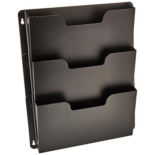 LjzlSxMF Metall B/ücherregal Metall Dokumentenablage File Organizer Convenient Versorgung 3-Grid-Briefsortierer Papierfach Gold