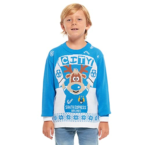 Retro HSA Boys Girls Kids Children Unisex Christmas Xmas Knitted Novelty Football Jumper Sweater Christmas Xmas 2020 Exclusively to Ltd for Ages 2-14 Years Elf