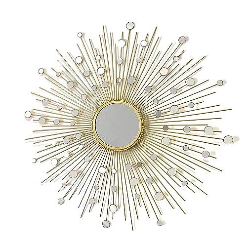 Buy Fancy Bathroom Mirrors Living Room Wall Mirror Kitchen Wall Mirror Decorative Starburst Mirror Metal Wall Hanging Mirror In Sunburst Shapemd101 Online In Bahrain B071zfz51x