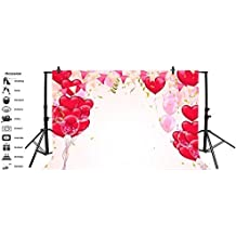 8x6.5ft Polyester Seamless Various Beautiful Flower Wall Background Valentines Day Backdrops Child Adult Lovers Couple Portraits Shoot Wedding Event Activities Photo Studio Props Wallpaper