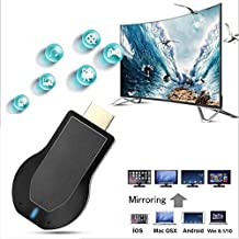 4K/&1080P Wireless HDMI Display Adapter,iPhone Ipad Miracast Dongle for TV,Upgraded Toneseas Streaming Receiver,MacBook Laptop Samsung LG Android Phone,Business Education Office Birthday Gift