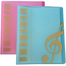 GUOZI Sheet Protector Binder with Plastic Sleeves A4 Letter Size Double Side Documents Organizer For Home Office School Music Files Kids Drawing etc. 20 Pockets Sheet Music File Paper Storage Folder