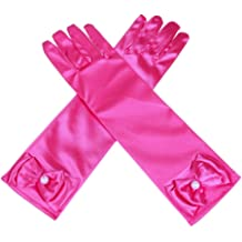 40f35fbd89 Lusiyu Girl Solid Color Long Elbow Length Formal Pageant Glove