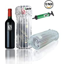 Glass Travel Airline Wrap Sleeves Cushioning Bubble Pack Transport Bags Air Fillable Column Sleeve Best to Protect Bottle 20 DOTPRO Bottle Bubble Cushion Wrap Wine Protector