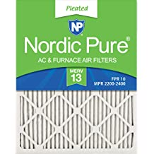 Nordic Pure 9x11x1 Exact MERV 8 Pure Carbon Pleated Odor Reduction AC Furnace Air Filters 2 Pack