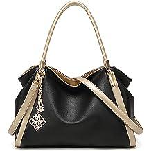e86f16c339e43 PU Leather Handbags for Women Soft Leather Purse Large Hobo Handbag  Shoulder Bag Fashion Top handle