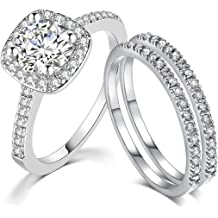 SDT Jewelry Princess Cut Black Onyx Wedding Engagement Proposal Ring