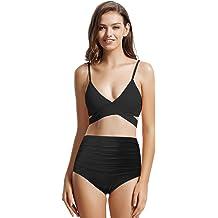 d26bcd22612 zeraca Women's Sexy Cutout Bottoms Wrap Bikini Bathing Suits