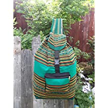#3313 Back Pack Tote Travel Pouch School Bag Adult Beach Sack Cotton Assorted NT