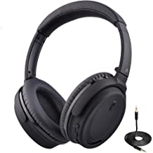 c195520ab89 Avantree Active Noise Cancelling Bluetooth 4.1 Headphones Mic, Wireless  Wired Comfortable Foldable Stereo ANC Over Ear Headset, Low Latency TV .