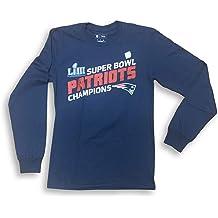 NFL Team Apparel New England Patriots Super Bowl LIII Champions Crew Neck Adult Mens T-Shirt
