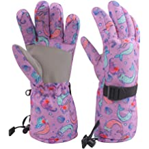 Kids Winter Snow Gloves for Boys Girls Waterproof Ski Toddler Baby Mittens Outdoor for Teens 6-14T
