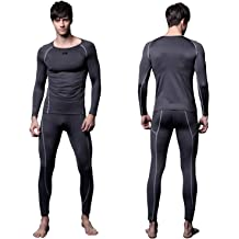 c8d5df16e839 FITEXTREME Mens MAXHEAT Compression Performance Long Johns Thermal Underwear