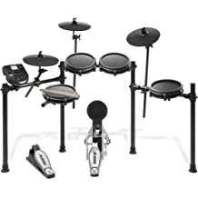 bacff521b78 Alesis Drums Nitro Mesh Kit | Eight Piece All-Mesh Electronic Drum Kit With  Super-Solid Aluminum Rack, 385 Sounds, 60 Play-Along Tracks, .