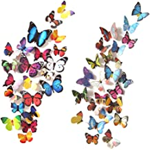 8c52630b01 Heansun 80 PCS Wall Decal Butterfly, Wall Sticker Decals for Room Home  Nursery Decor