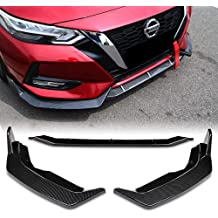 Stay Tuned Performance PU//680//PCF Carbon Fiber Print Front Bumper Body Kit Lip 3PCS Compaitble with 2006-2011 Civic Sedan CS Style