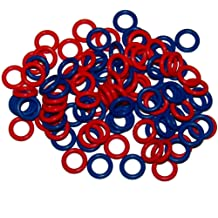 100 Pack Soft Stitch Ring Markers Available in 3 sizes, Includes 2 colors