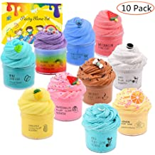 DIY Items. Upgraded Version Ideal for Sensory and Tactile Stimuli slimefavors 10 Pack Slime kit- relieves Stress Toys Party Favor for Kids Girls /& Boys which are Super Soft and Non-Sticky