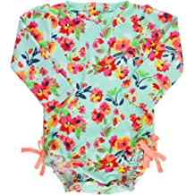 e7f964165e RuffleButts Baby/Toddler Girls UPF 50+ Sun Protection Long Sleeve One Piece  Swimsuit with