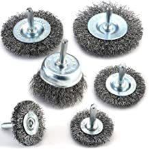 FPPO Stainless Steel Wire Wheel Brush /& Coarse Crimped Cup Brush Kit for Drill,Wire Diameter 0.0118 inch for Rotary Tool with 1//4-Inch Shank,Removal of Rust,Deburring,Paint
