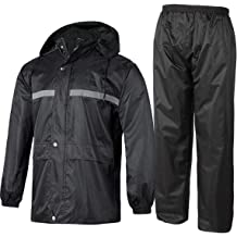 GEEK LIGHTING Mens Waterproof Rain Jacket Active Outdoor Full Zip Lightweight Trench Coats
