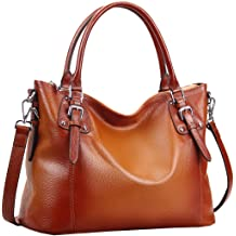 6c44009a216 Heshe Women's Leather Handbags Shoulder Tote Bag Top Handle Bags Satchel  Designer Ladies Purses Cross-