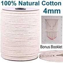 Soft Undyed Macrame Bands Polyester Cotton Macrame Rope Knitting Crafts 4-Strand Twisted Cotton Cord for Wall Hanging Dark Red, 3mmx220yards Plant Hangers SANGTQ Macrame Cord 220Yard