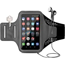 Key Holder /& Card Slot Water Resistant Armband for iPhone 11,11 Pro,X,XR,8 Plus,Galaxy Note20,S20,A10e,S10 Tsuinz Cell Phone Armband Sport Exercise Gym Running Phone Holder with Airpods Bag Black