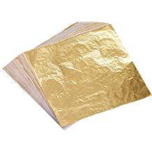 47bc70c27 Bememo 100 Sheets Imitation Gold Leaf for Arts, Gilding Crafting,  Decoration, 5.5 by