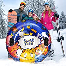 CLISPEED Snow Tube Heavy Duty Inflatable Snow Sled with Handles for Skating Winter Outdoor Fun