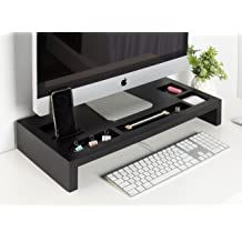 Kate And Laurel Briggs Wood Monitor Riser Desk Organizer Black Buy Products Online With Ubuy Bahrain In Affordable Prices B01n8s3dxq