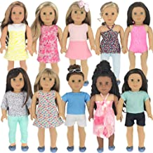 Ebuddy 3pc Christmas Red Color Including Hat Shawl Dresses Outsuits Fits 18 Inch Girl Dolls