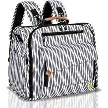 3b032c55ed8c5 ALLCAMP Zebra Diaper Bag Large, Support Baby Stroller, Converted Into a  Tote Bag,