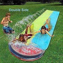 Zedco Lawn Water Slides Inflatable Water Slides,Breakthrough Blast Water Slide,Garden Racing Water Slide Water Slide 26.4ft Children Water Slide Garden Racing Large Double Water Slide Splash Sprint