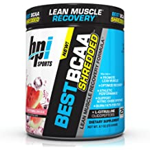 BPI Sports Best BCAA Shredded - Caffeine-Free Thermogenic Recovery Formula - BCAA Powder - Lean Muscle Building - Accelerated Recovery - Weight .