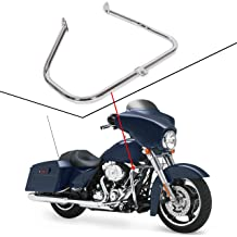 ECOTRIC 1-1//4 Highway Engine Guards Long Angled Foot Pegs Rest Mount Compatible with 32mm Engine Guard Harley Davidson Road King Street Glide Honda Suzuki Kawasaski
