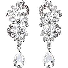 74b1491e8 ... Earrings. BHD 8. BriLove Women's Bohemian Boho Crystal Flower Wedding  Bridal Chandelier Teardrop Bling Dangle