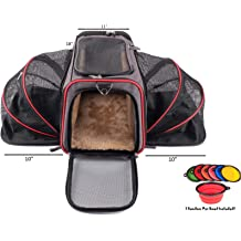 f4927d30a9 Premium Airline Approved Expandable Pet Carrier by Pet Peppy- Two Side  Expansion, Designed for Cats, Dogs, Kittens,Puppies - Extra Spacious .